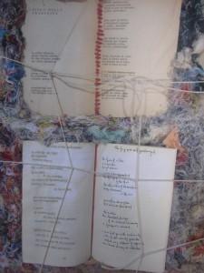 detail from panel, El Cuerpo de un Poema